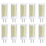 GY6.35 LED Cerámica Bulbo del maíz 102 Leds SMD 2835,10W 110V Regulable Bulbo,Equivalente Bombilla de 100W halógeno,para el gabinete,lámpara,lámpara de Pared Iluminación Etc (10 Pack) Bomb