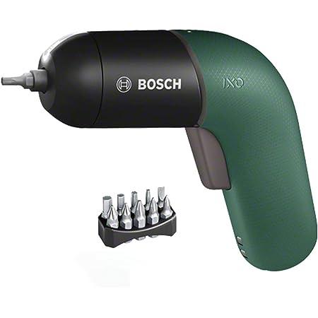 ボッシュ(BOSCH) 電動ドライバー コードレス 充電式 LEDライト 無段変速 正逆転切替 家具の組み立て DIY (モスグリーン・ビット10本・充電器・ケース付き) IXO6