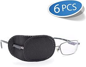 FCAROLYN 6pcs Eye Patch for Glasses to Treat Lazy Eye/Amblyopia / Strabismus,Black