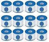 CXYXHW Cartuchos de repuesto S1 para Intex 29001E,filtro de piscina para jardín al aire libre tipo S1 PureSpa Easy Set de filtros de repuesto,cartuchos para filtro de jacuzzi–s1 filtro(12 unidades)