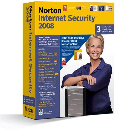 Preisvergleich Produktbild Norton Internet Security 2008 incl. Norton AntiBot 3 PCs