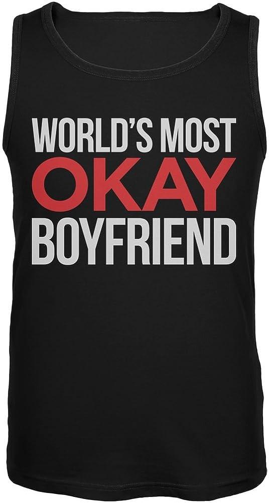 World's Most Okay Boyfriend Black Mens Tank Top
