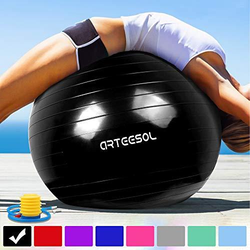 arteesol Exercise Ball 45cm / 55cm / 65cm / 75cm Anti-burst Anti-slip...
