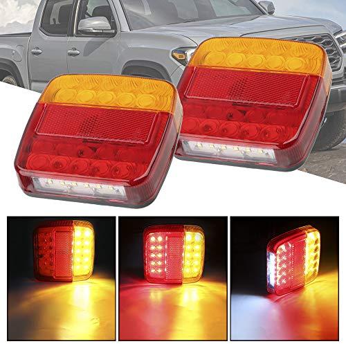 YOUG Feu arrière de Caravane de Camion de remorque, indicateur de Clignotant, feu d'arrêt de Frein arrière arrière, 26 LED, DC 12 V, 1 Paire