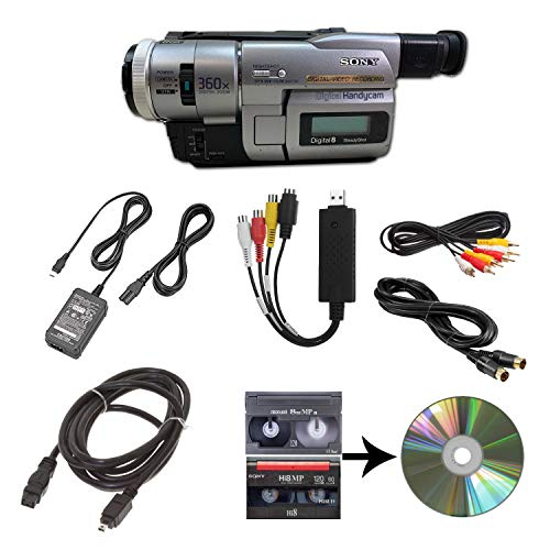 hi8 camcorders Sony Camcorder for 8mm Digital8 Hi8 Tape Transfer to Computer USB and DVD