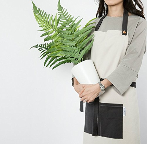 cozymomdeco Chef Works Handmade Apron Japanese Cross Back Organic Cotton Medium Charcoal