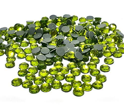 Hotfix SS20 - 1440 piedras redondas de cristal (5 mm, 4,4 ~ 5 mm, para ropa, vestido, zapatos, bolso, decoración (peridoto verde)