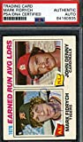 Mark Fidrych Psa Dna Coa Autograph 1977 Topps Ldr Rookie Authentic Hand Signed - Baseball Slabbed Autographed Cards. rookie card picture