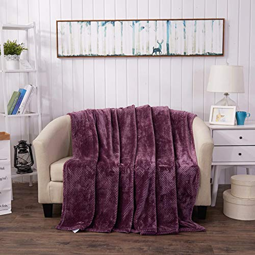 Manta De Sofá Blanket Manta De Franela De Lana De Color Sólido para Funda De Sofá, Mantas De Tiro Mullidas, Colcha De Microfibra, 120X220 Cm, Boluoge-Molv