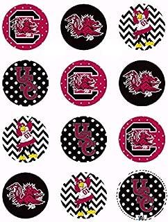 Gamecock USC - Edible Cupcake Toppers - 2