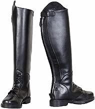 TuffRider Children's Starter Back Zip Field Boots in Synthetic Leather, Black, 3 Regular Wide