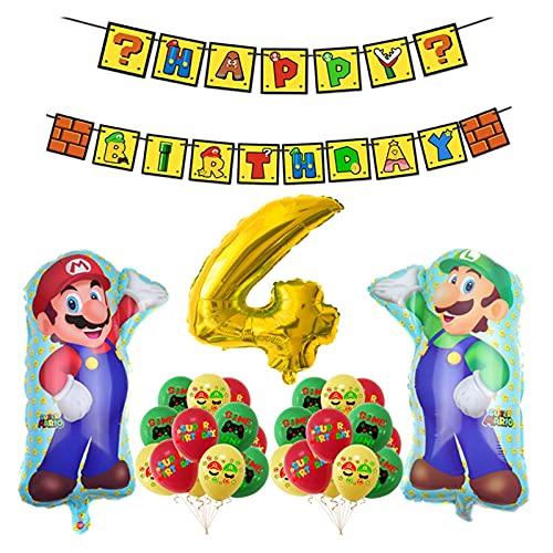 JJSCCMDZ Globo 1set Super Mario Ballo Historieta Fiesta de cumpleaños Banner Mario Mario Gran Latex Maker Decoración del Juego (Color : 04)