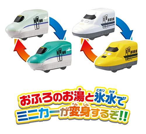 パイロットインキ『おふろDEミニカーすすめ!海底トンネル!北海道新幹線はやぶさ&ドクターイエローセット』