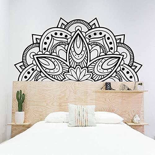 Mandala Decoración de Pared Arte Geometría Sagrada Mandala Etiqueta de Pared de Mandala Mandala Stencil Decoración de Dormitorio Salón Decoración 83X42cm
