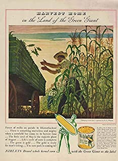 fe41774dfdb Harvest Home in the Land of the Jolly Green Giant Niblets ad 1942 N C Wyeth  L
