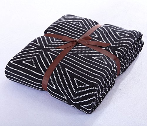 100% Cotton Throw Blanket, Stylish While Classic Pattern,...
