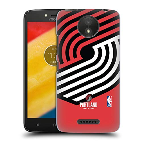 Official NBA Oversized Icon Portland Trail Blazers Hard Back Case Compatible for Motorola Moto C Plus