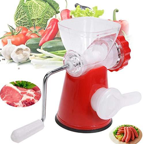 SHUHAO vleesmolen, handmatige keukenmachine voor thuis, voor het hakken en mengen van vlees en groenten, het maken van babyvoeding vullingen en producten
