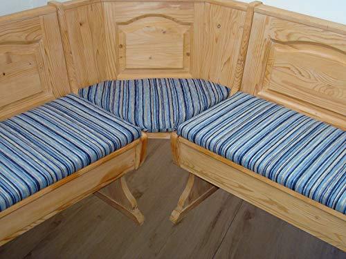 bequemer-sitzen Eckbank-Auflagen, Landhaus, Fleckerlteppich blau
