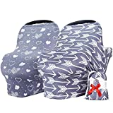 Baby Car seat Covers for Girls and Boys,Nursing car seat Covers 2-Piece Set by Bilncece