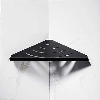 Étagère d'angle Douche Salle de bain d'angle étagère murale Espace Aluminium Douche Caddy Drilling Panier de rangement Org...