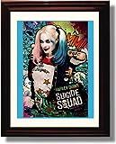 Framed Margot Robbie Autograph Replica Print - Suicide Squad