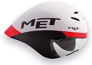 MET メット ドローン HES TT用エアロヘルメット ホワイトブラックレッド