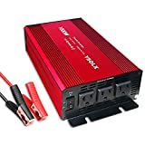 Power Inverter 12v to 110v, Dc to Ac Converter with 3 AC...