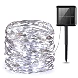 AMIR (Upgraded Version) Solar Powered String Lights, 100 LED Copper...
