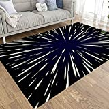 Large Area Rugs,EMMTEEY 5X7 Farmhouse Area Rug of Indoor Outdoor Kids,Boys,Girls Star Wars Flying Through The Stars Speed Light