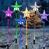 6 PCS Multicolor Acrylic Star Christmas Solar...