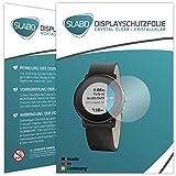 Slabo 2 x Bildschirmschutzfolie für Pebble Time Ro& Bildschirmschutz Schutzfolie Folie Crystal Clear KLAR