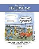 Löwe 2020: Sternzeichenkalender-Cartoonkalender als Wandkalender im Format 19 x 24 cm.