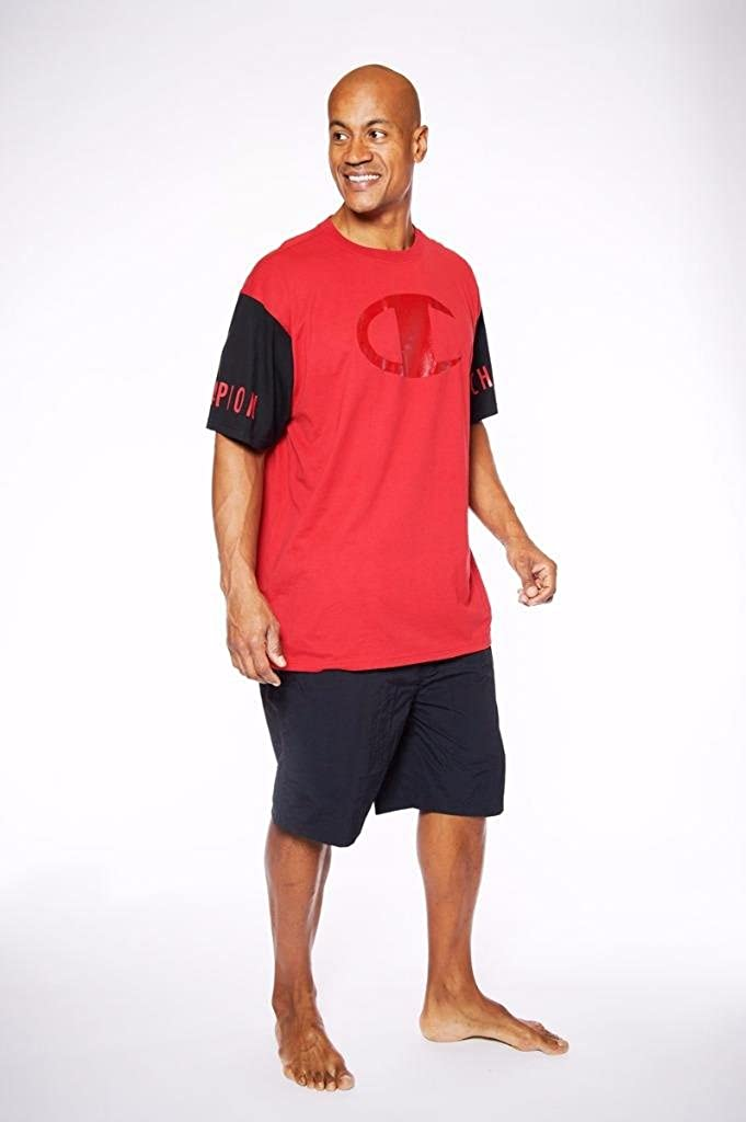 Daily bargain sale Champion Big Tall Men's Colorblock T-Shirt Free Shipping Cheap Bargain Gift Performance