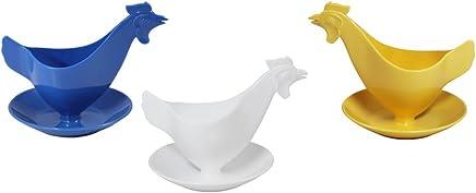 """Preisvergleich für Eierbecher """"Huhn"""" in Pastellfarben farbig sortiert 3er Set"""