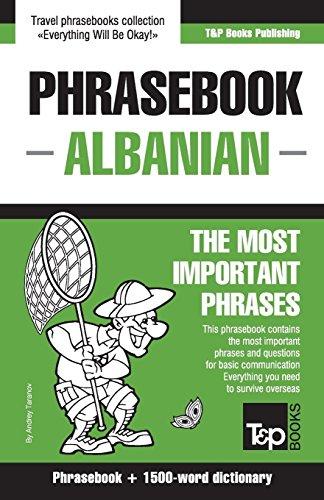 English-Albanian phrasebook and 1500-word dictionary