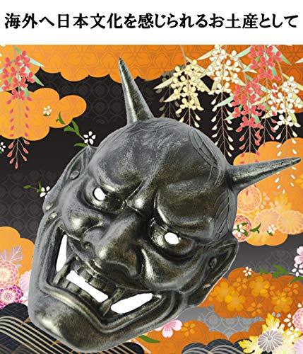『般若 鬼 お面 魔除け 厄除け コスプレ 舞台 リアル サバゲー IMPACTオンライン (シルバー)』の6枚目の画像