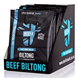 BEEFit Biltong - Beef Jerky - 10x30g. High Protein, Low Sugar Healthy Snack. Perfect Gym Snack and Beer Snack Beef Biltong (Truly Traditional)