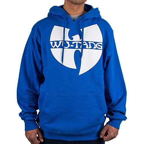 WU Wear Hoodie WU Tang Logo Hooded, WU Tang Clan Pull Mode Streetwear Urban, Hip Hop, pour Hommes, Bleu Royal Taille 3XL, Couleur Royal Blue