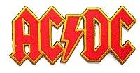 アイロンワッペン ロック バンド 音楽(バンド) ワッペン 刺繍ワッペン AC/DC アイロンで貼れるワッペン