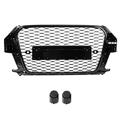 EBXH Parrilla Frontal de Parachoques, para Audi Q3 2013 2014 2015 (Refit para Estilo RSQ3) Accesorios para automóviles 1 PCS Nueva Rejilla Media