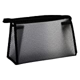 DIKOPRO Travel Toiletry Bag, Make Up Bag, Wash Bags, Portable Makeup Bags, Shaving Kit Case Pouch, Holiday Essentials for Men Women, Large Capacity Cosmetic Bag Perfect for Travel, Daily Use(Black)
