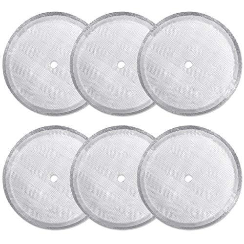 CKANDAY - Paquete de 6 filtros de filtro de prensa francesa, filtros de malla de acero inoxidable reutilizables para cafeteras de prensa francesa universales de 1000 ml / 34 oz / 8 tazas
