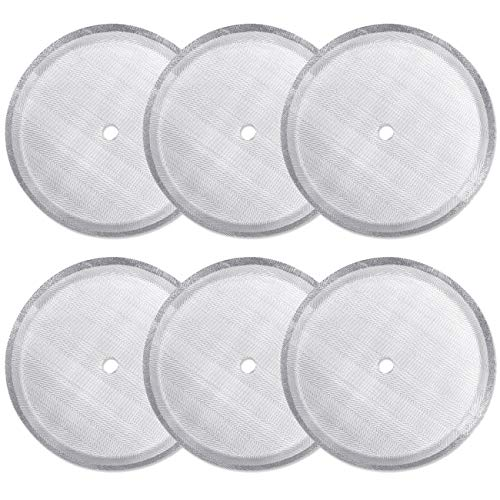 ACKLLR 6 Pack French Press Replacement Filter Screen,Reusable Stainless Steel Mesh Filters for Universal 1000 ml / 34 oz / 8 cup French Press Coffee Makers