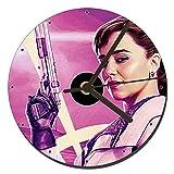 MasTazas Han Solo Una Historia De Star Wars Solo A Star Wars Story Qira Emilia Clarke Reloj CD Clock 12cm