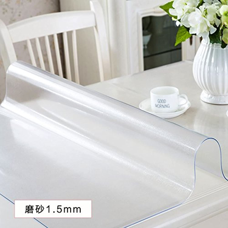 Transparente Tischdecke ultradünne Crystal Board PVC Weich wasserdichter Stoff, Scrub1.5, 80 x 130 cm, B0799L23HV Vorzüglich   | Attraktive Mode