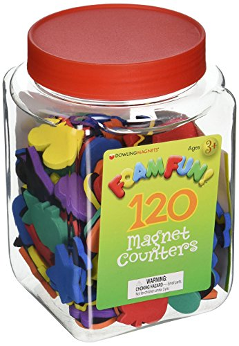 Dowling Magnets - 732102 Magnetic Counters, Multicolored Educational Magnets for Kids, Set of 120