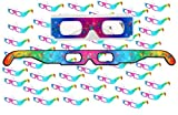 50 Pairs - Ships Flat - Prism Diffraction 3D Fireworks Glasses - For Laser Shows, Raves by 3Dstereo Glasses