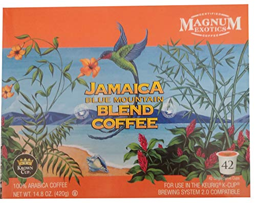Magnum Exotics Jamaica Blue Mountain Blend Coffee K-Cups, 42 Count (42 Count)
