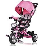 Deuba Tríciclo infantil Rosa niños pequeños y mayores carga máxima 30 Kg...